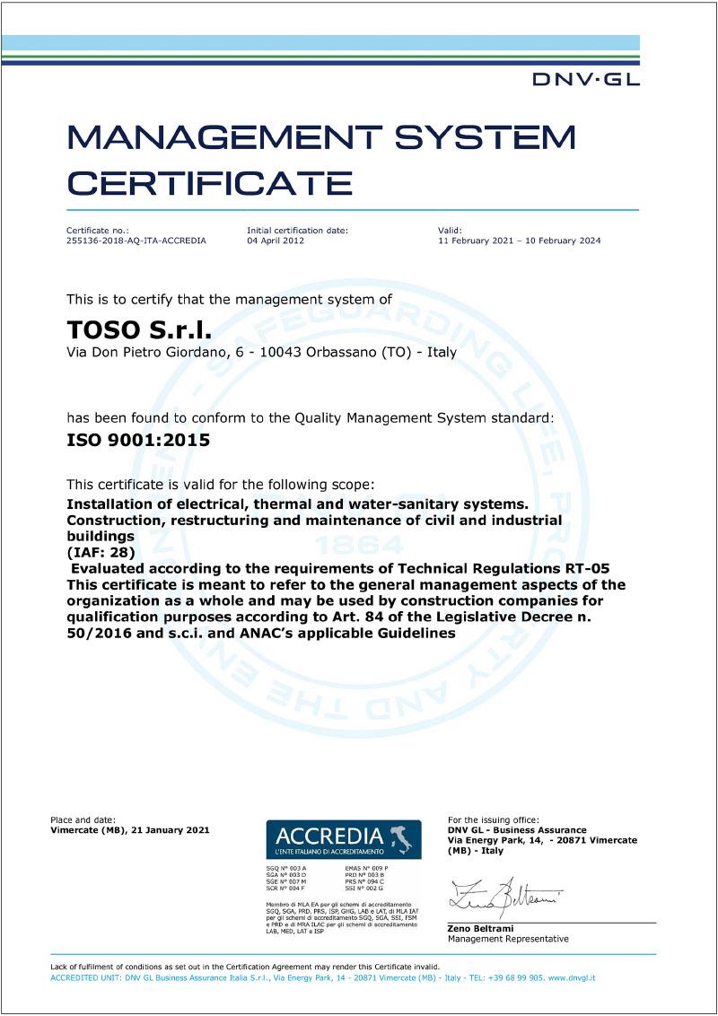 Toso-costruzioni-edilii-certificazione-lso-9001:2015