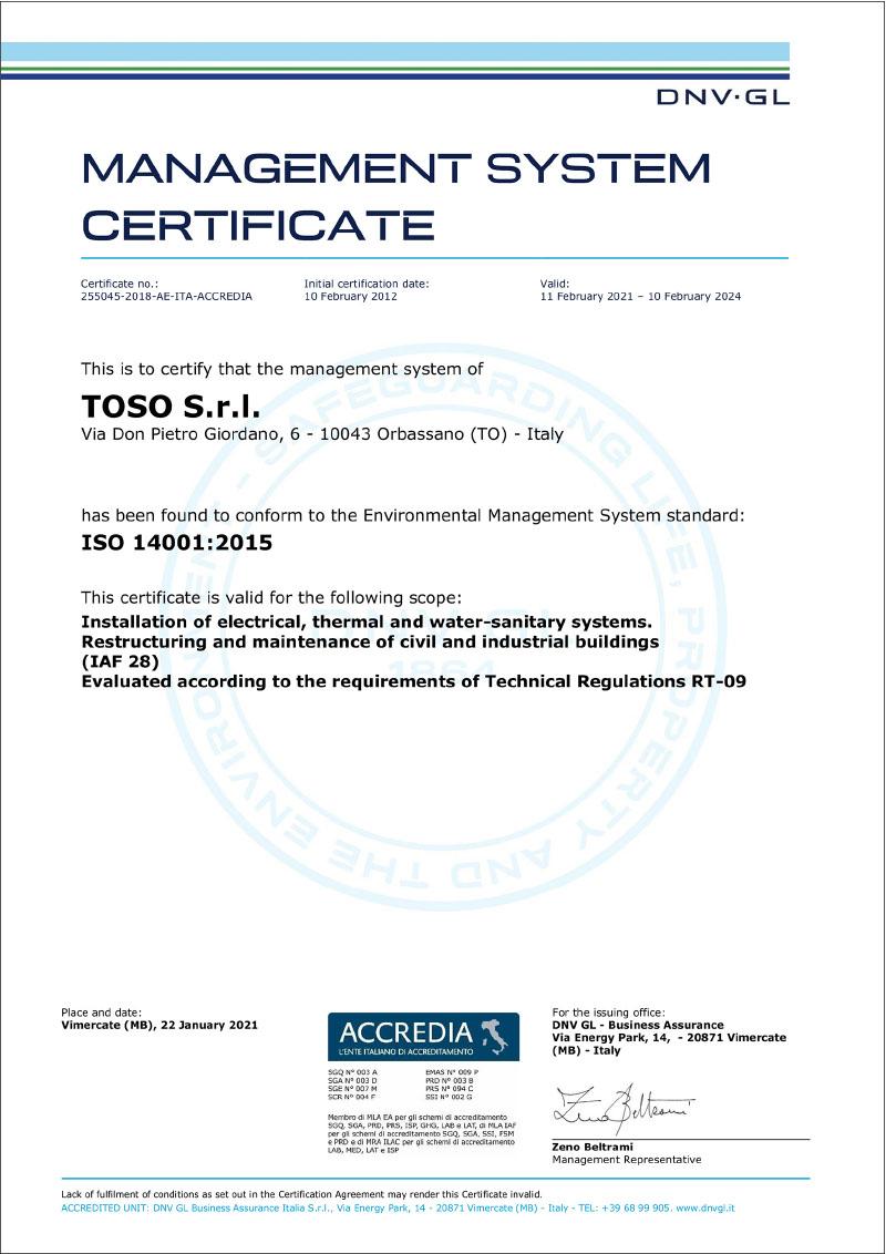 Toso-costruzioni-edili-certificazione-lso-14001:2015